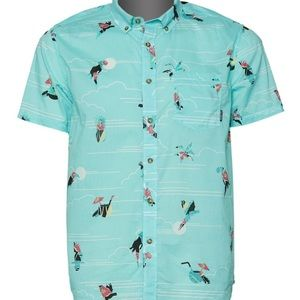 Billabong Men's Sundays Mini Short Sleeve Shirt L